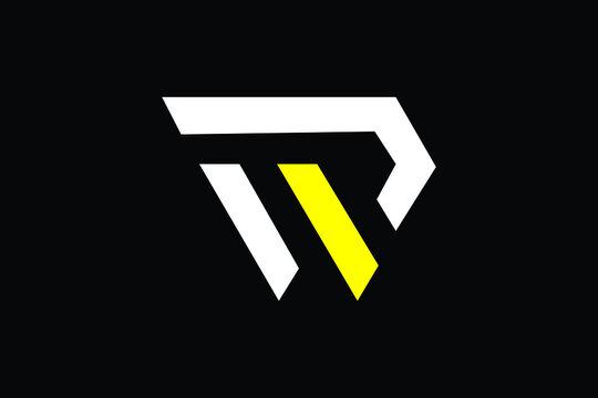 WP Letter Logo Design. Creative Modern W P Letters icon vector Illustration.