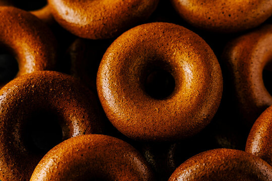 Luxury home baked ring doughnuts, or donuts