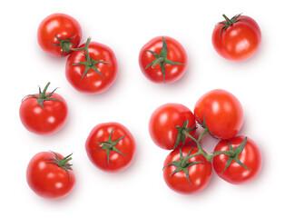 Fototapeta Fresh red ripe tomatoes isolated on white background.  obraz