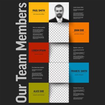 Dark Company team members presentation template