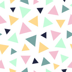Obraz Abstract vector seamless pattern. Abstract contemporary modern trendy  illustration. Geometric design. Colored triangles pattern - fototapety do salonu