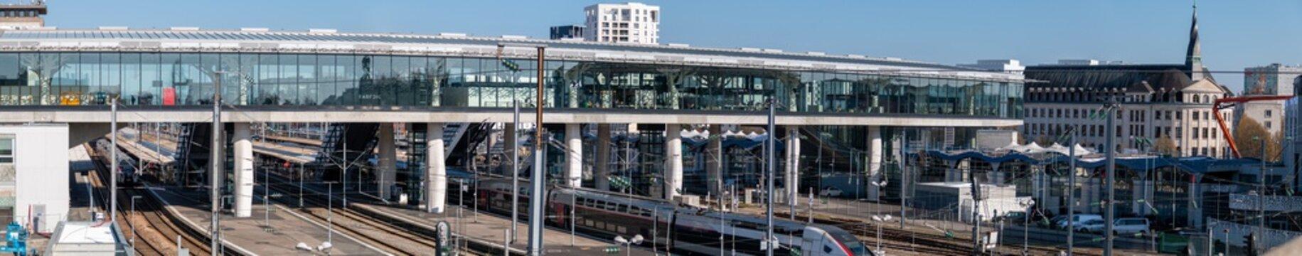 Panorama sur la gare de Nantes