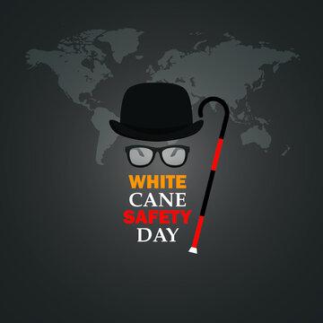 White Cane Safety Day. 15 October. White cane international day concept. Vector illustration.