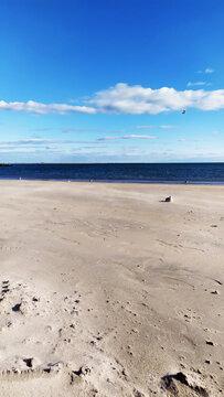 Coney Island Beach, New York.