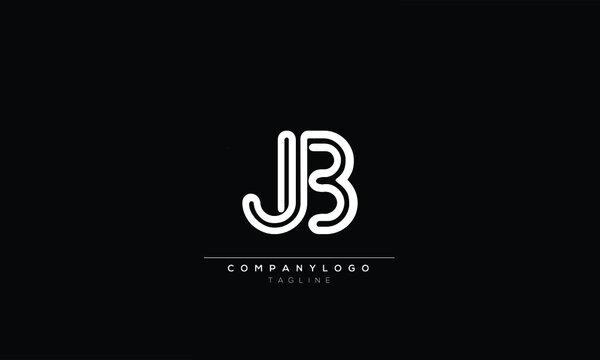 JB J AND B Abstract initial monogram letter alphabet logo design