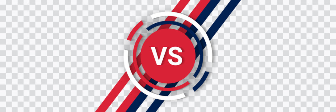 Versus isolated logo. Battle vs match, game vector template.