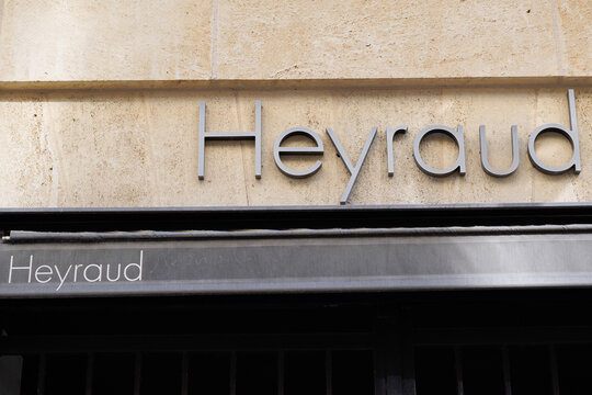 Heyraud logo sign and brand text front of shop part of Eram group to French shoes and footwear store retail