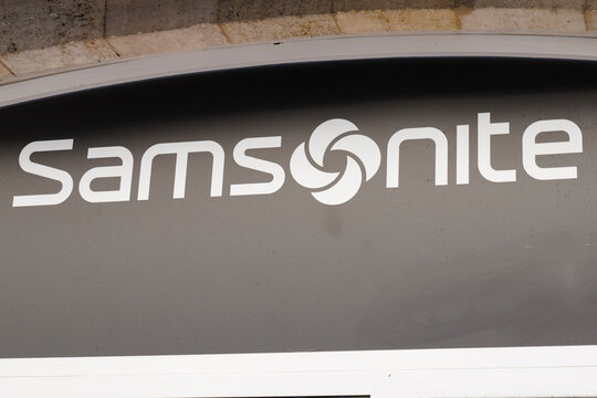 Samsonite logo text and sign brand store of us luggage manufacturer shop
