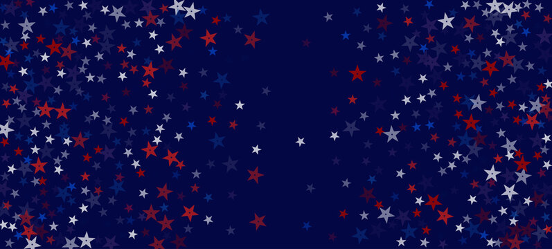 National American Stars Vector Background. USA 11th of November Independence 4th of July Memorial President's Labor Veteran's Day