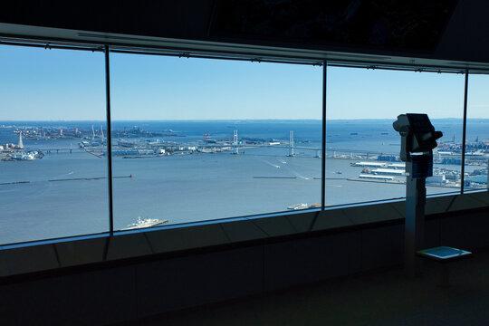 横浜ランドマークタワー展望室の景色