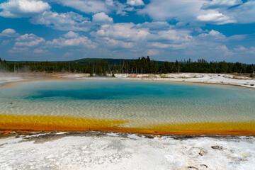 Fototapeta Yellowstone - Sunset Lake