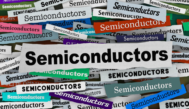 Semiconductors News Headlines Update Information Technology Chip Shortage 3d Illustration