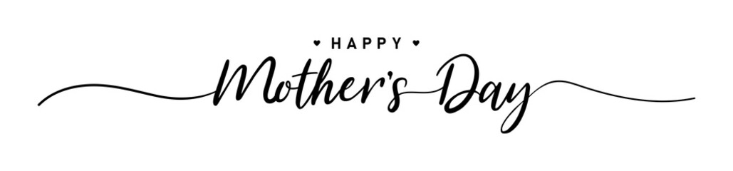 Fototapeta Mother day. Happy Mother's Day. 9May. Mother day poster. Vector illustration for women's day, shop, discount, sale, flyer, decoration. Lettering style.