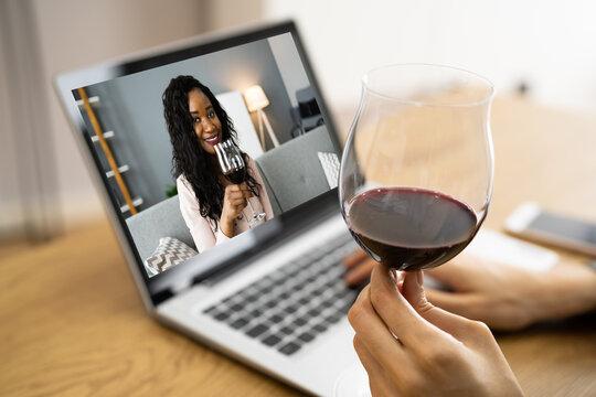 Online Virtual Wine Tasting Video Call