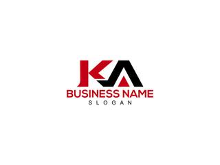 Obraz Letter KA Logo, ka logo icon vector for business - fototapety do salonu