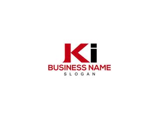Obraz Letter KI Logo, ki logo icon vector for business - fototapety do salonu