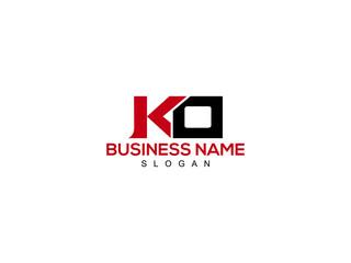 Fototapeta Letter KO Logo, ko logo icon vector for business obraz