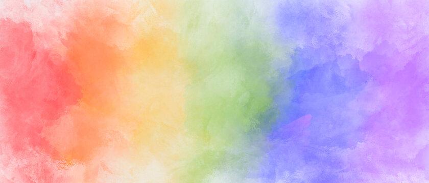 Rainbow watercolor background