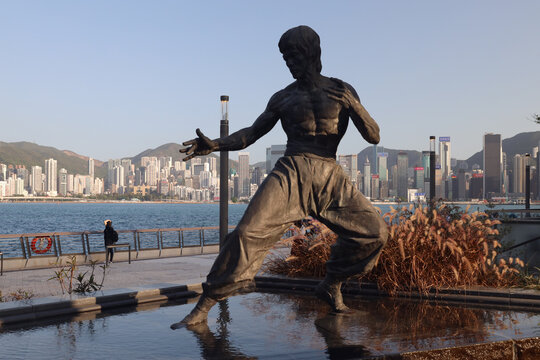 new location of Bruce Lee statue at Avenue of Stars 10 April 2021