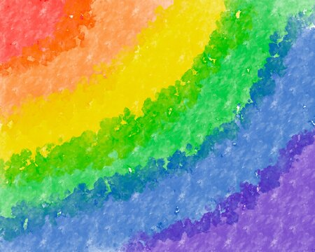 Rainbow watercolor, homosexual concept, coexistence with lgbtq group, lgbt pride flag in illustration format.colorful background design.