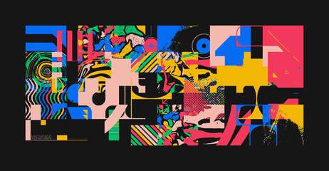 Obraz Unusual Abstract Geometric Artwork Composition - fototapety do salonu