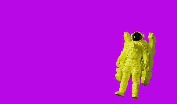 Astronaut pop art poster background.