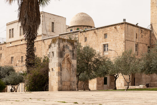 The arcitecture  in the south part the Temple Mount in the Old Town of Jerusalem in Israel