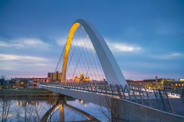 Fototapeta Des Moines Iowa skyline in USA