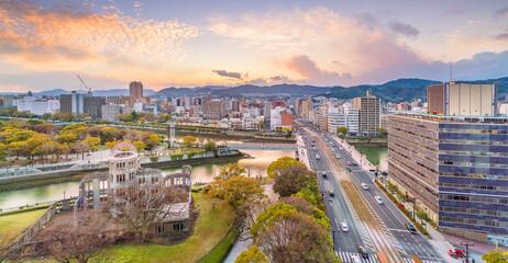 Fototapeta Hiroshima Peace Memorial from top view in Hiroshima