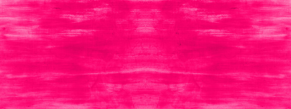 Colorful pink magenta abstract painted watercolor aquarelle template design paper texture background banner panorama