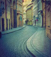 Narrow streets of old Prague