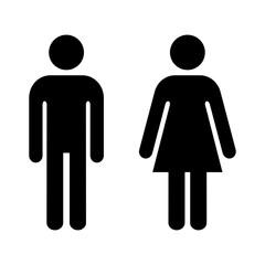 Obraz ikona mężczyzny i kobiety - fototapety do salonu