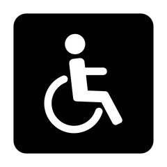 Obraz wózek inwalidzki ikona - fototapety do salonu