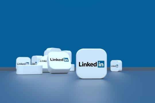 linkedin, social network background design