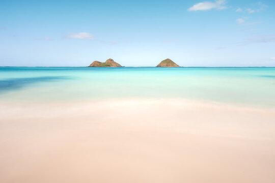 Beautiful shot of the Lanikai Beach in Kailua, USA