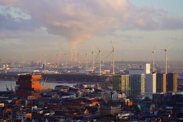 Antwerp city skyline
