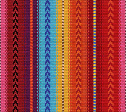 Blanket stripes seamless vector pattern. Serape design