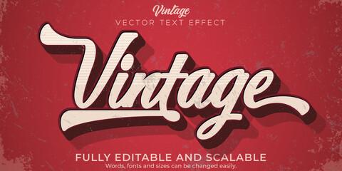 Fototapeta Editable text effect, vintage retro text style obraz