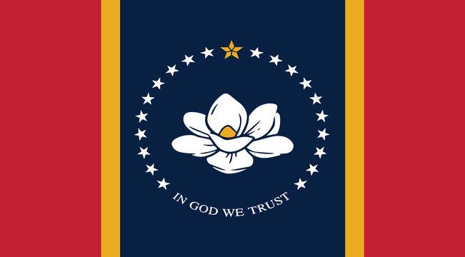 Mississippi state USA flag new