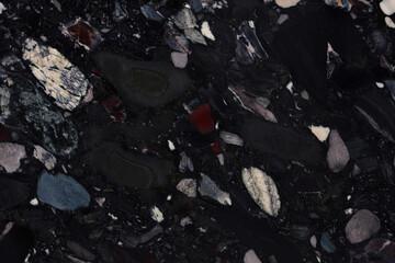 Modern Black Marinace - granite, stylish dark texture for your natural interior look.