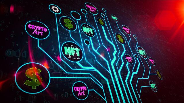 NFT Crypto Art symbols illustration