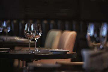 Fototapeta concept alcohol glass / beautiful glass, wine restaurant tasting aged wine obraz