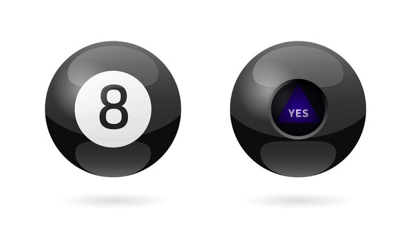 Magic 8 ball icon. Clipart image isolated on white background