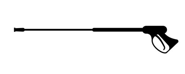 Obraz Pressure washing gun silhouette icon. Clipart image isolated on white background - fototapety do salonu