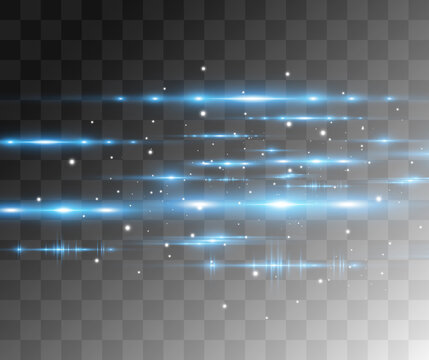 Light blue vector special effect. Glowing beautiful bright lines on a dark background.