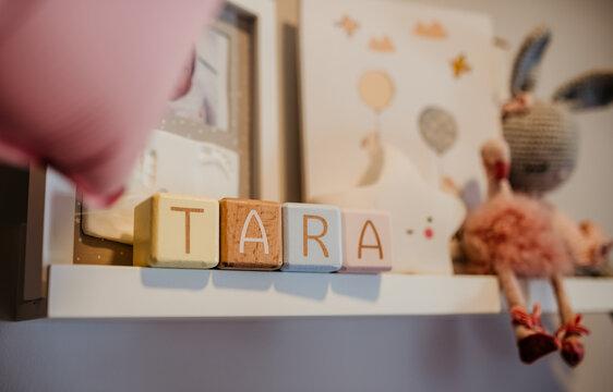 baby girl room interior design pink pastel details nursery Tara romantic