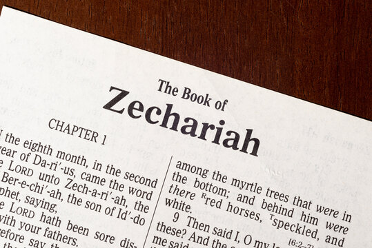 The Book of Zechariah Title Page Close-up