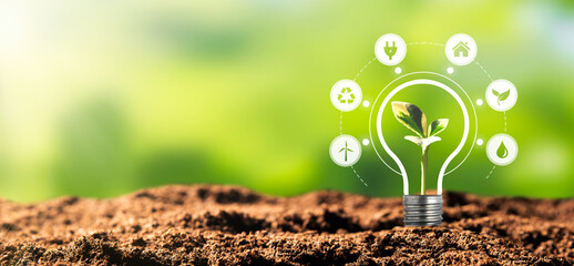 Renewable, sustainable energy sources concept