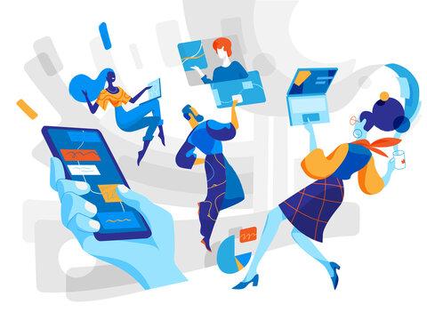 Persone che comunicano con strumenti software innovativi