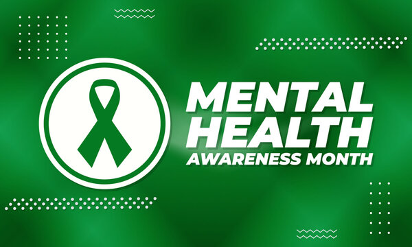 """Mental Health Awareness Month (also referred to as """"Mental Health Month"""") has been observed in May in the United States since 1949. Medical concept design."""